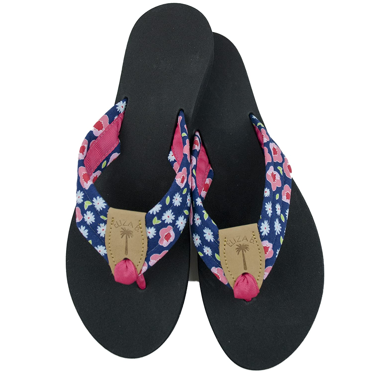 266479a2d3cb Eliza pink peonies fabric sandal with black sole clothing jpg 1500x1500  Macrame eliza flip flops