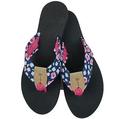 ba23f9403c49 Amazon.com  Eliza B Pink Peonies Fabric Sandal with Black Sole  Clothing