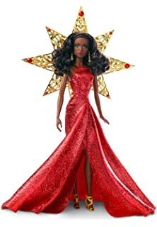 Barbie 2017 Holiday Nikki Black Hair With Red Dress Doll