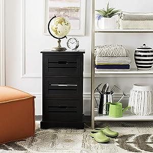 Safavieh American Homes Collection Samara Black 3-Drawer Cabinet