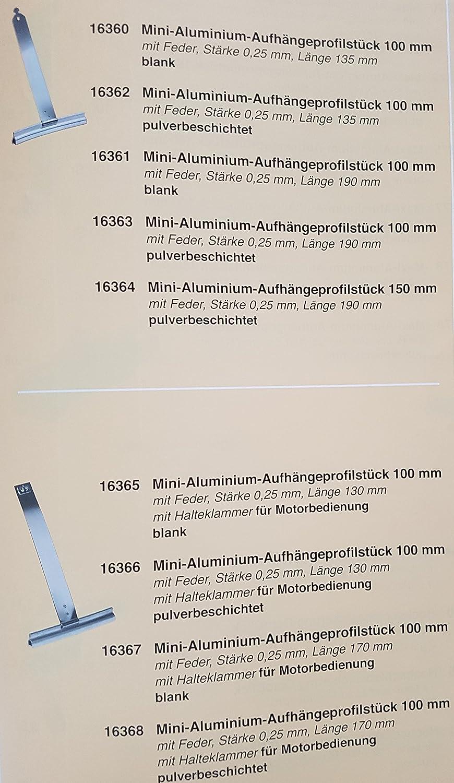 10 x Mini Rolladen Aufhängefeder Aufhängung Rollladen Stahlband Aufhänger