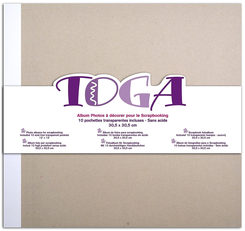 Toga AL19 Album di Scrapbooking Cartone Grigio 30, 5 x 30, 5 x 2, 5 cm 5x 30 5x 2 5cm