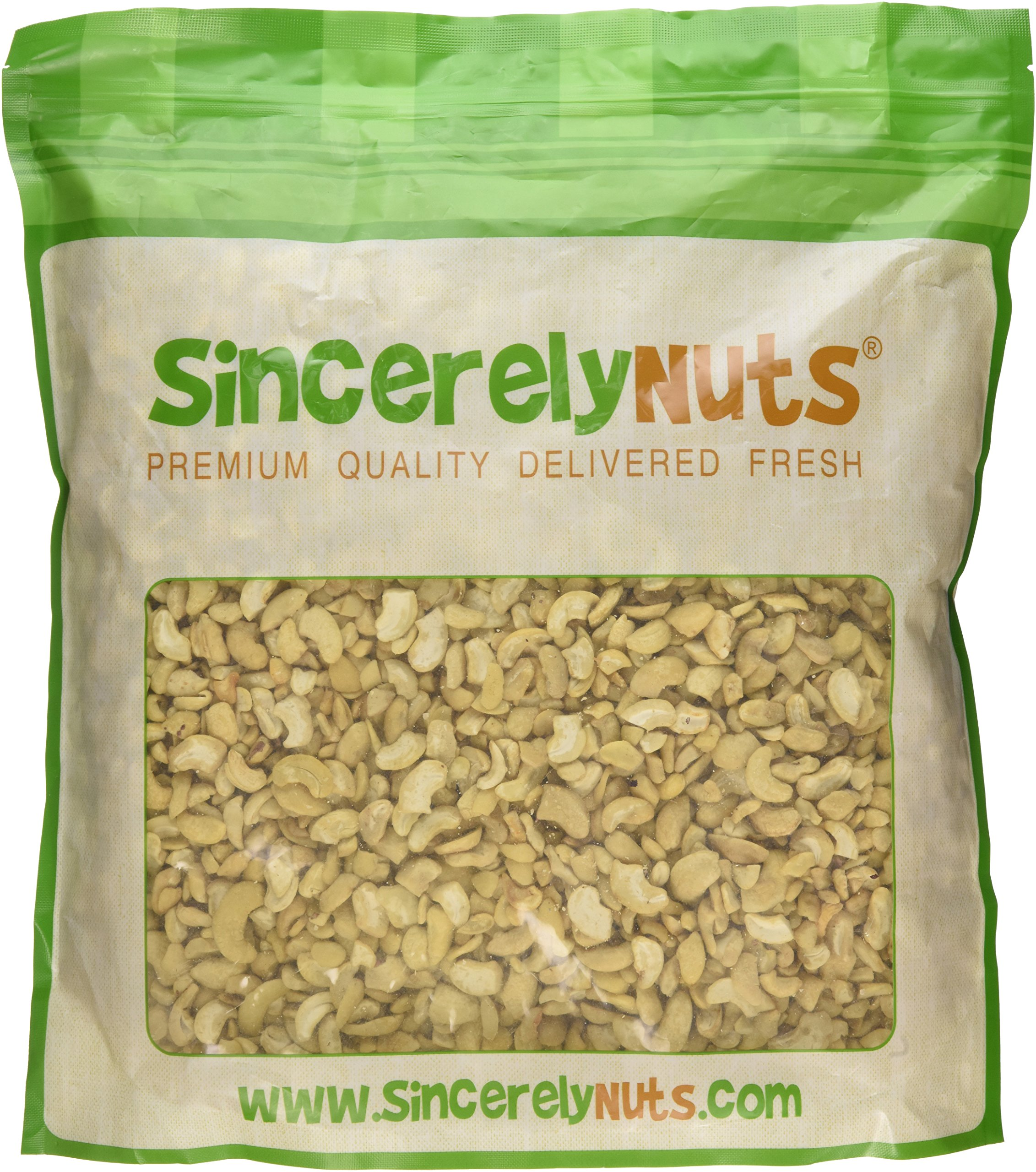 Sincerely Nuts Raw Cashew Pieces Unsalted- Five Lb. Bag - Sensationally Scrumptious - Total Freshness - Filled with Healthy Nutrients- Kosher