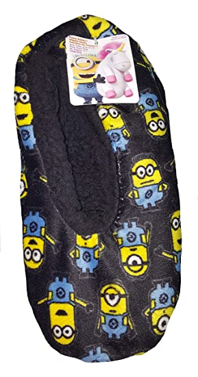 Despicable Me Minions Fuzzy Babba Slipper Socks - S/M