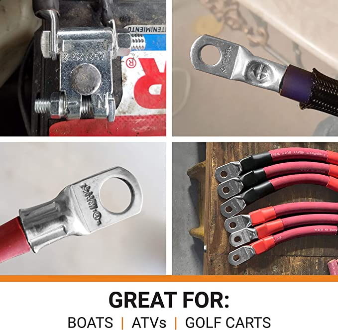 Heavy Duty SELTERM UL Tinned Copper Wire Lugs Battery Cable Ends /— Marine Grade