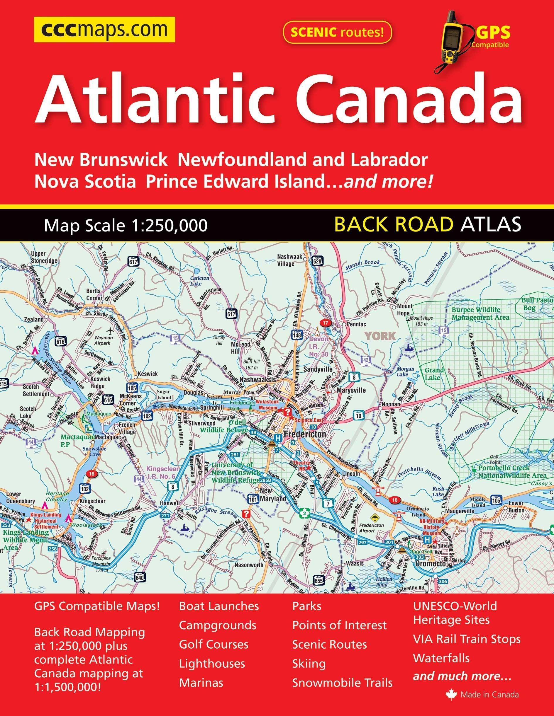 Map Of Canada Nova Scotia.Atlantic Canada Back Road Atlas Mapart Publishing Mapart