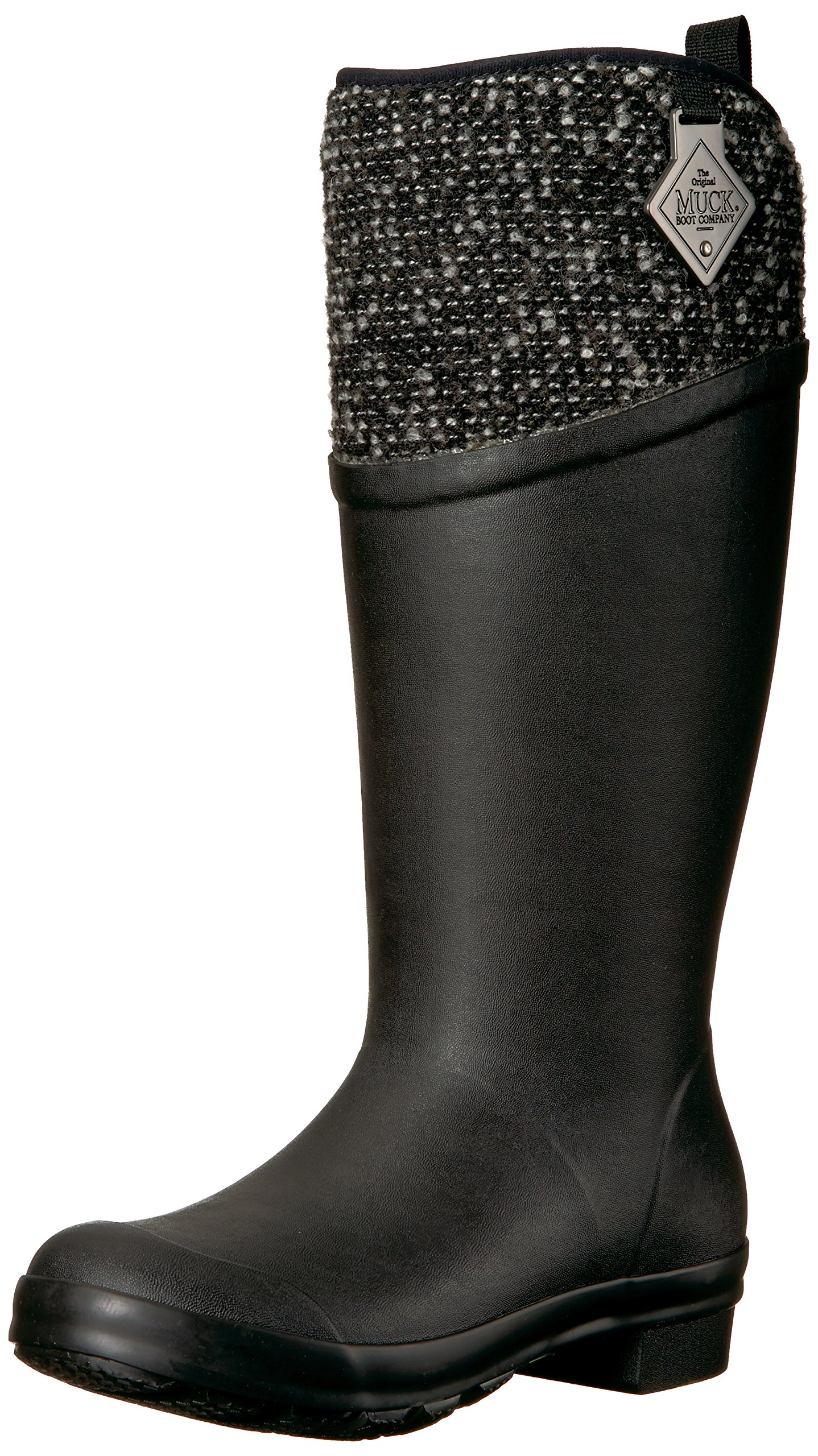 Muck Boot Women's Tremont Supreme Work Boot, Black/Silver, 9 M US