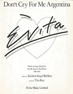 Andrew Lloyd Webber: Don't Cry For Me Argentina