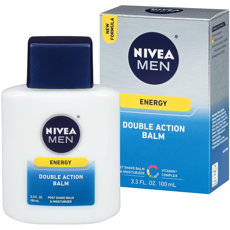 Nivea for Men Energy Double Action Shave Balm, 3.3 Fluid Ounce