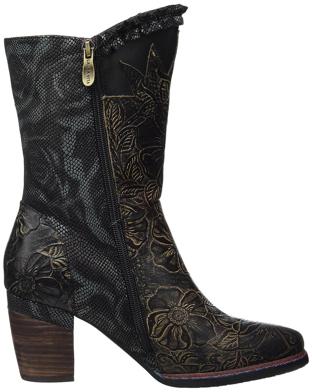 LAURA VITA Bottes de Cowboy pour Femmes 05 CendrillonNoirSchwarz , 39 EU