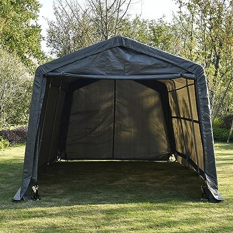 Bestmart INC Garage in-a-Box Canopy Carport Deep Gray10x15x8ft & Amazon.com: Bestmart INC Garage in-a-Box Canopy Carport Deep Gray ...