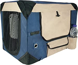 Deluxe Soft Crate for Pets with Storage Case
