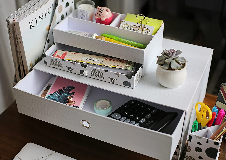 Amazon.com: Organizador de escritorio para oficina en casa ...