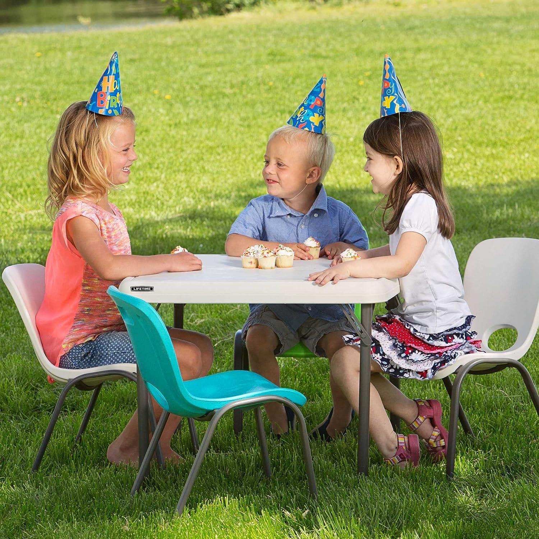 "Amazon Lifetime Kids Folding Table Almond 24"" Garden"