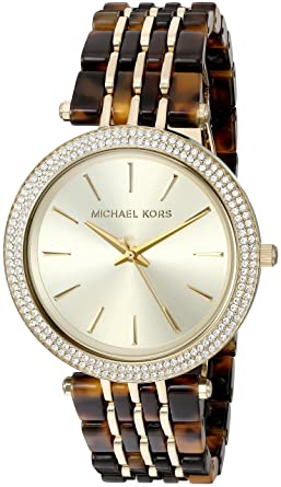 9b0519ffd89d Image Unavailable. Image not available for. Color  Michael Kors Women s  Darci Gold-Tone Watch MK4326