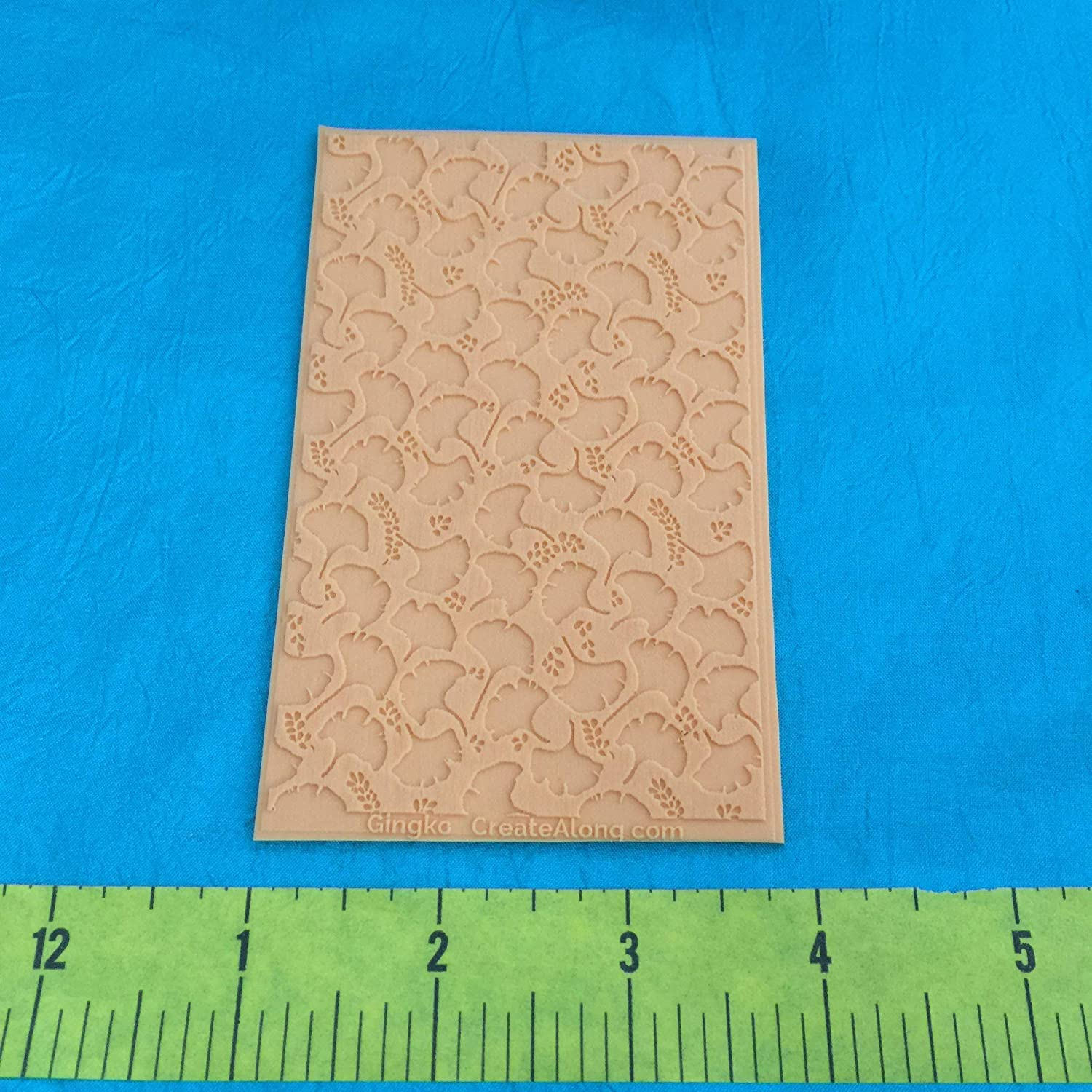 Texture Sheet Ginkgo for Polymer Clay and Mixed Media Stamping