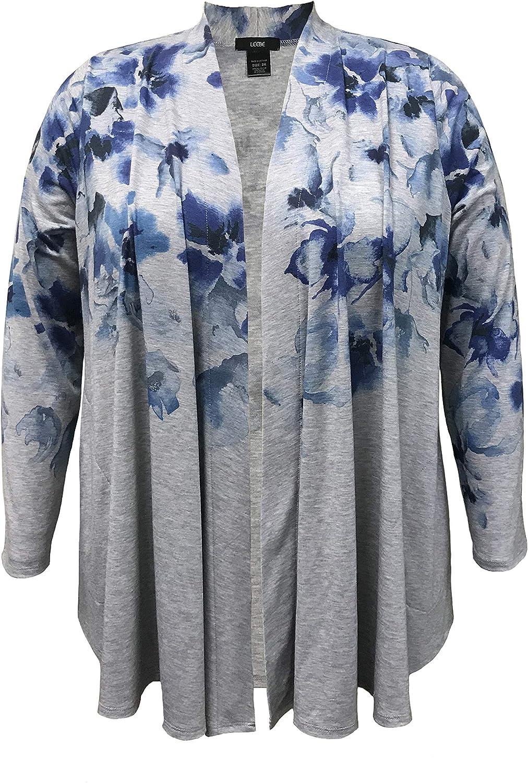 LEEBE Womens Plus Size Printed Cardigan 1X-5X
