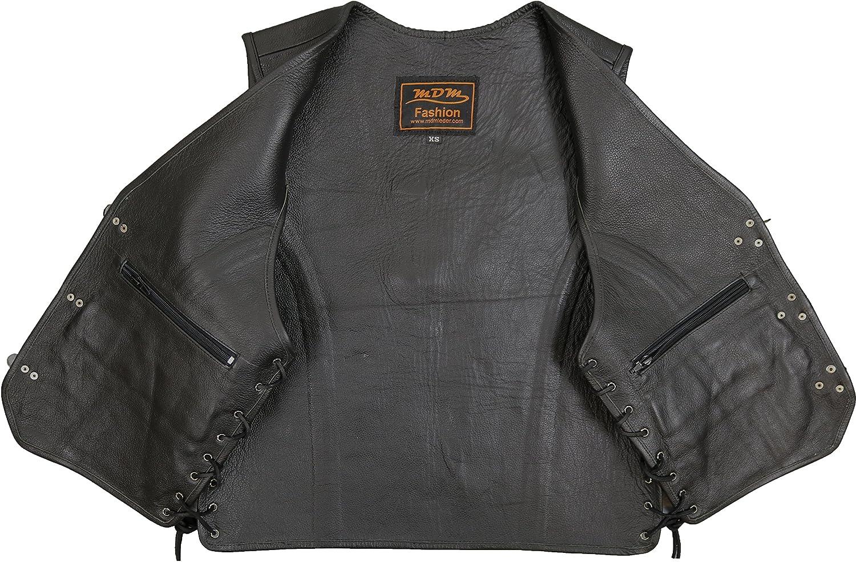 Gilet en cuir de moto L int/érieur et ext/érieur en cuir v/éritable