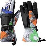 Aisprts Ski Gloves, Warmest Waterproof and Breathable Snow Gloves for Mens,Womens,Ladies and Kids Skiing,for Parent…
