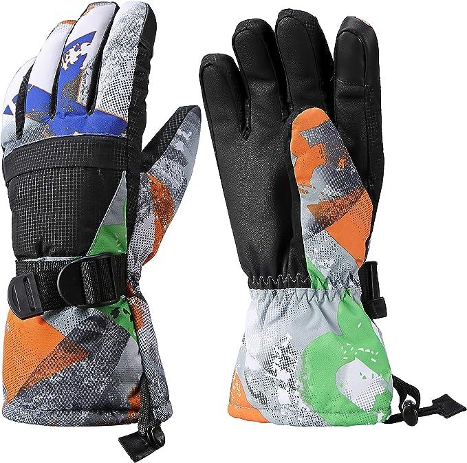 20°C Womens Waterproof Warm Touchscreen Winter Ski Snowboard Snow Glove Grey