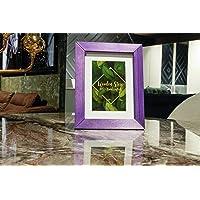 Ahşap Çerçeve - 15x21cm | 100% Doğal Ahşap Violet(mor) Renk | Kırılmaz Cam
