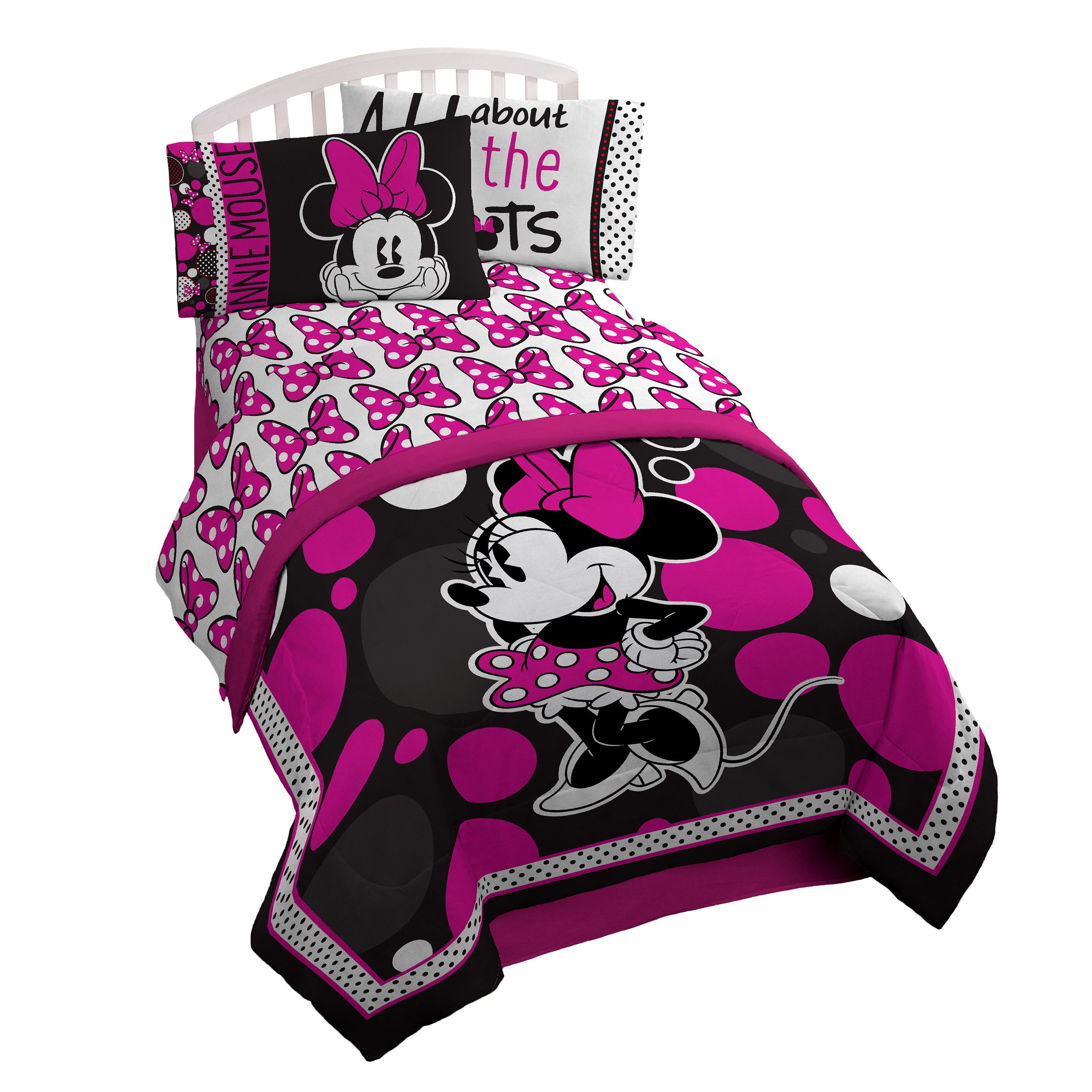 Minnie Mouse Sheet Set Bedroom Bed Cover Twin Sheets