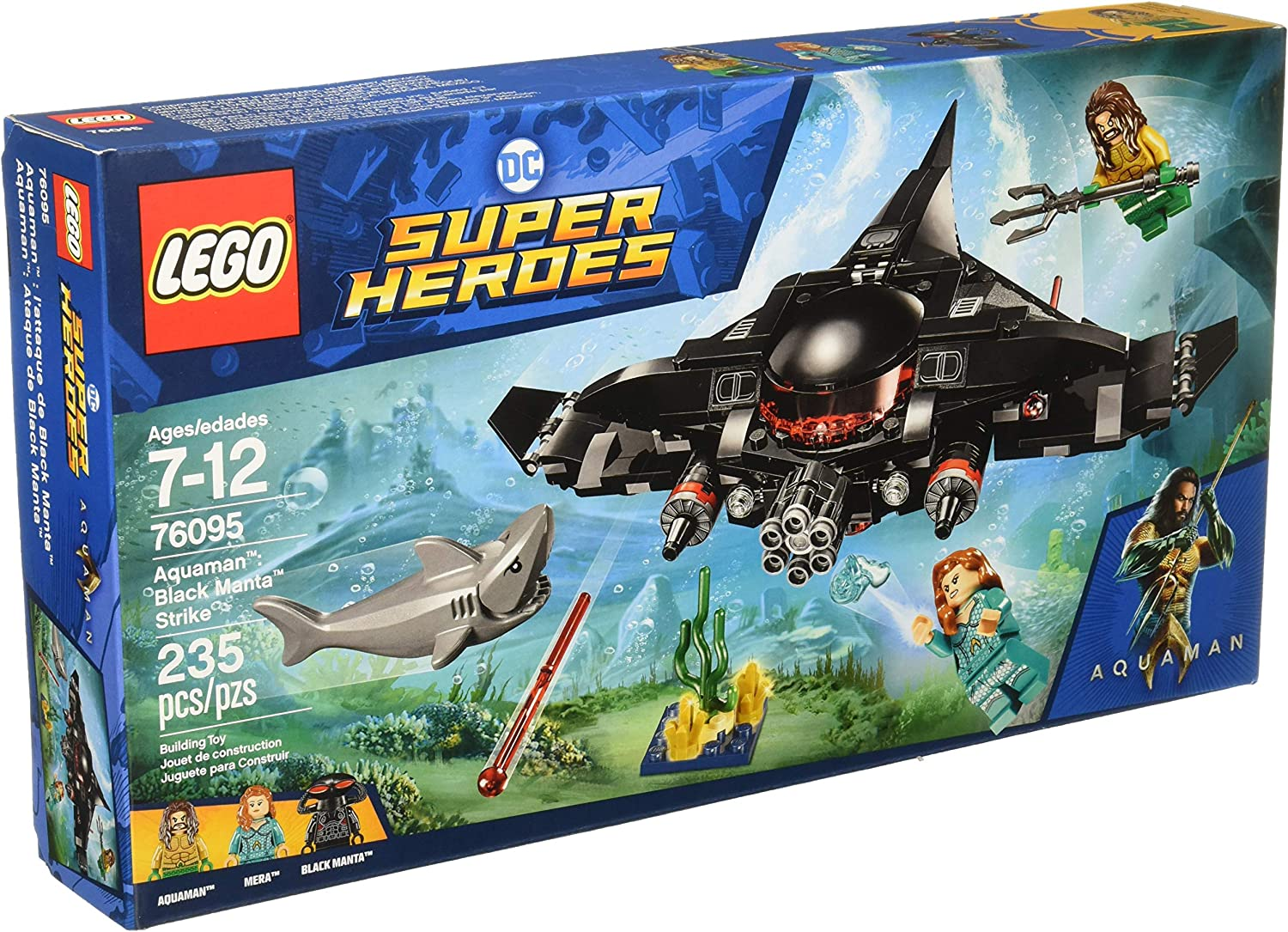 LEGO DC Super Heroes Aquaman Black Manta Strike 76095 ~ 235 pieces