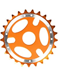 "Big Roc 57CSS127O Sprocket 25T -Bmx-For 1/2"" x1/8"" Chain -Alloy- Orange"