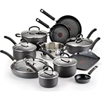 17-Piece T-fal E918SH Ultimate Hard Anodized Nonstick Dishwasher & Oven Safe Cookware Set (Black)