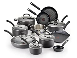 T-fal E765SH Ultimate Hard Anodized Scratch Resistant Titanium Cookware Set