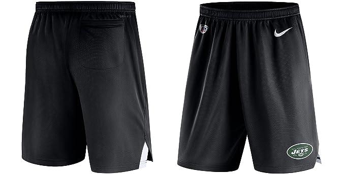 NIKE Men s Dri-Fit New York Jets Training Shorts Black White 836615-010 dfb700de1