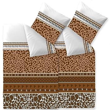 Aqua Textil Bettwäsche 4tlg 155x220 Baumwolle Set Kopfkissen