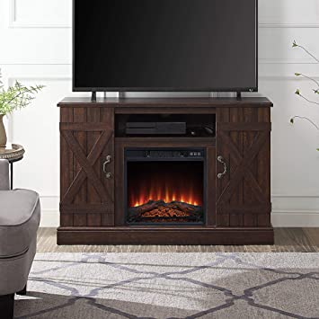 Belleze 47 Tv Stand Entertainment Center For Tv S Up To 50 W Infrared Electric Fireplace And Remote Control Espresso Furniture Decor