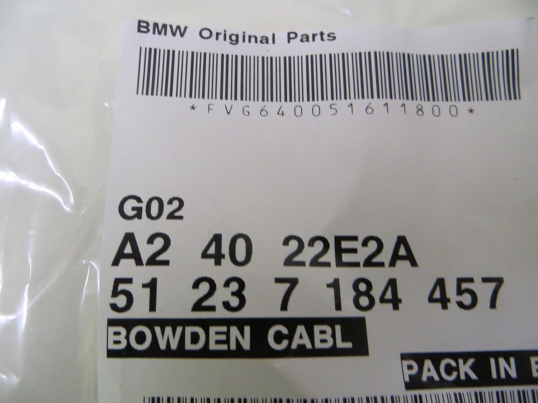 JSD Auto Parts Cavo Di Rilascio Cofano Motore 2 Pezzi OE Ref 51237060529 51237060552