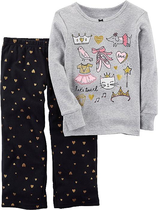 6030df411 Amazon.com  Carter s Baby Girls  12M-14 2 Piece Ballerina Fleece ...