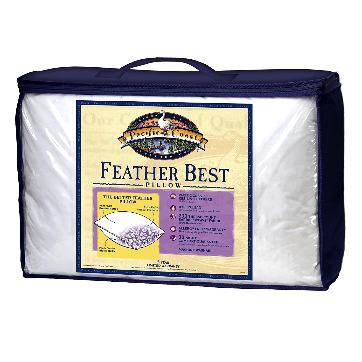 Amazon Pacific Coast Feather Best Pillow with Resilia
