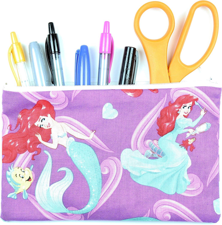 Disney/'s Little Mermaid Zipper Pouch 12 x 7 x 4