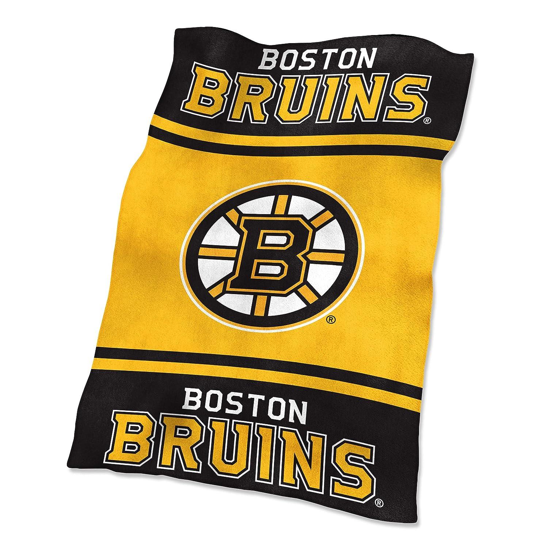 NHL Boston Bruins Ultrasoft Throw with Large Logo毛布、ブラック、54