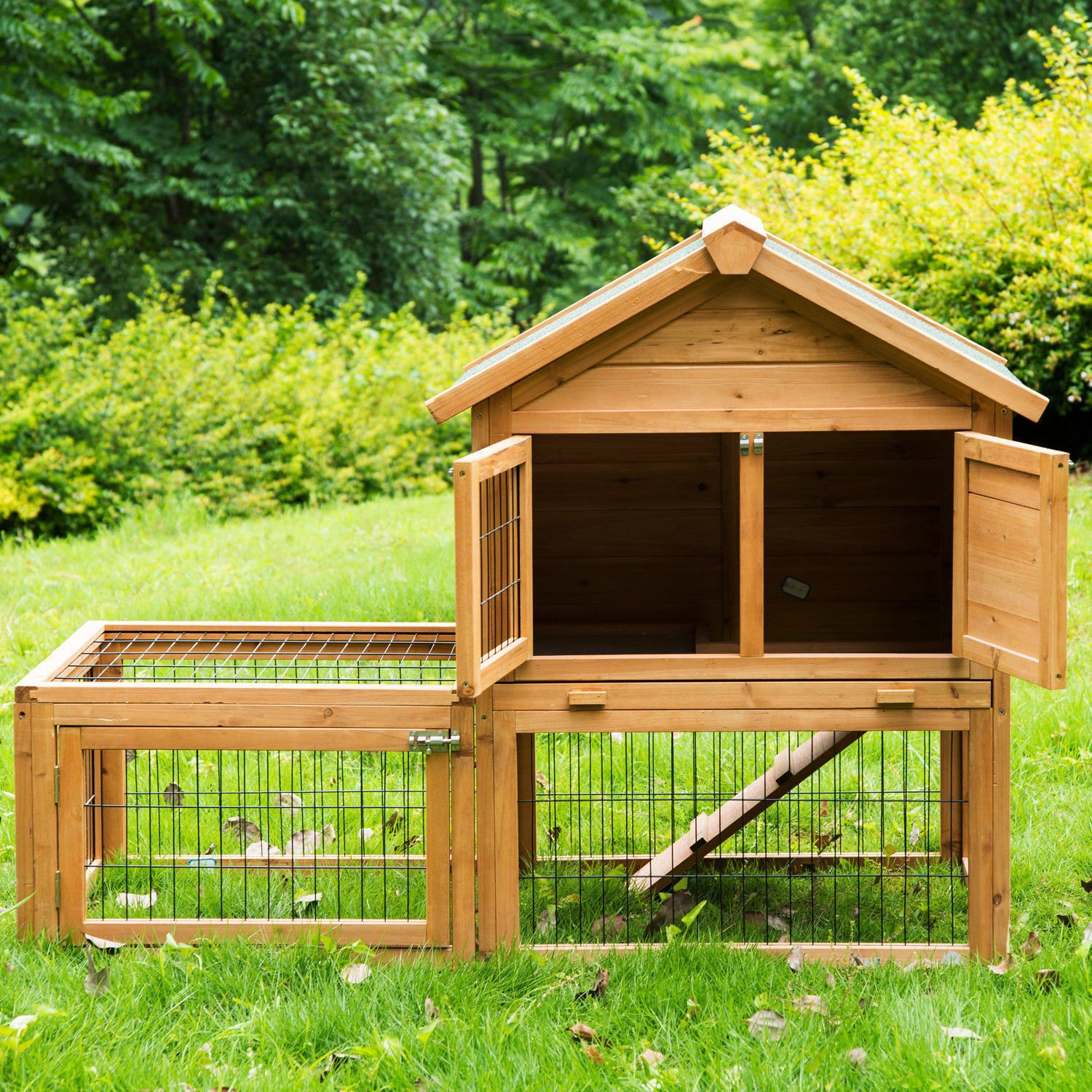 Eight24hours 53'' Wooden Chicken Coop Rabbit Hutch Small Pet House Hen Cages + FREE E-Book by Eight24hours (Image #8)