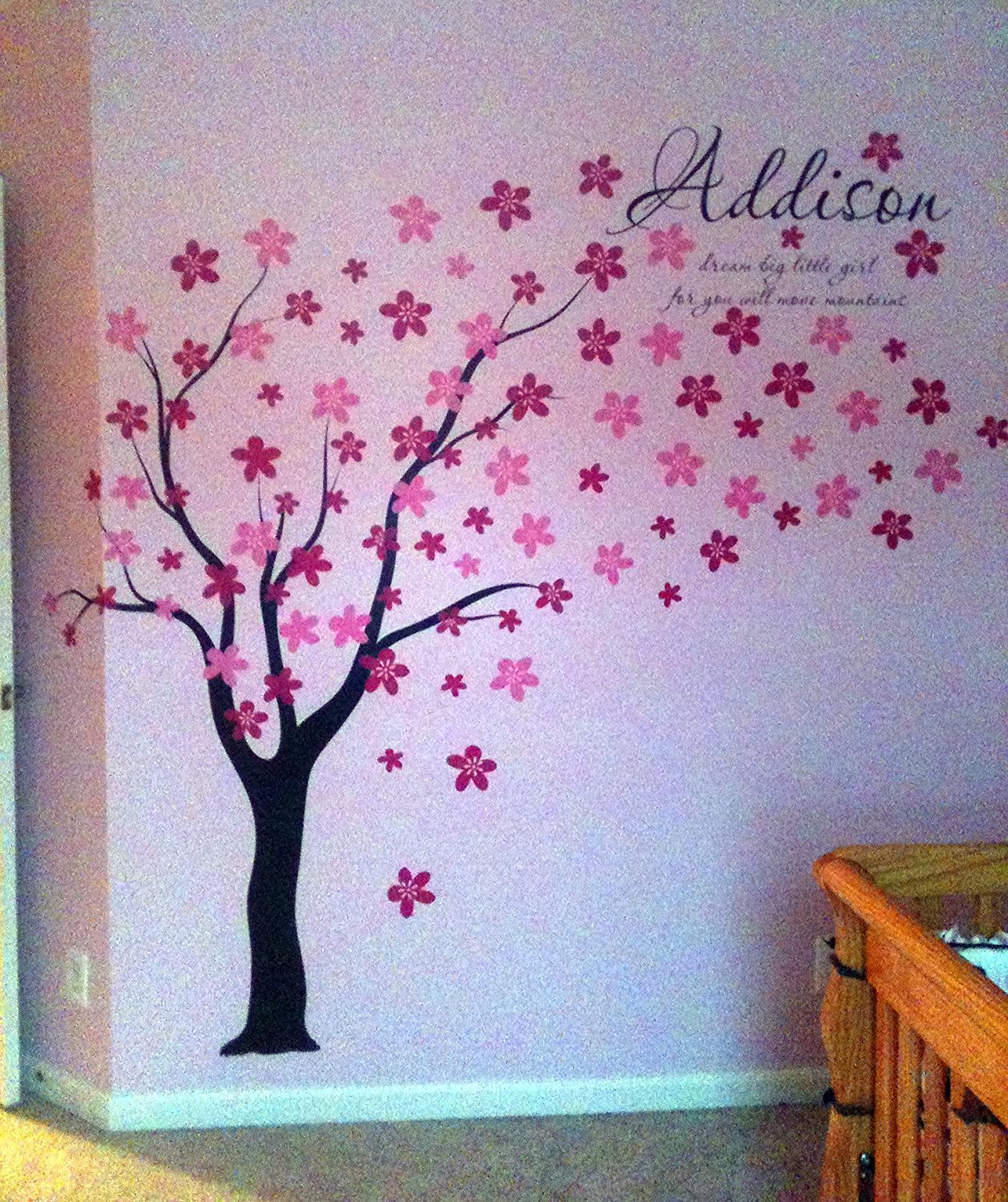 Amazon pop decors drifting flowers and birds tree wall decals amazon pop decors drifting flowers and birds tree wall decals for nursery room 71 baby amipublicfo Choice Image