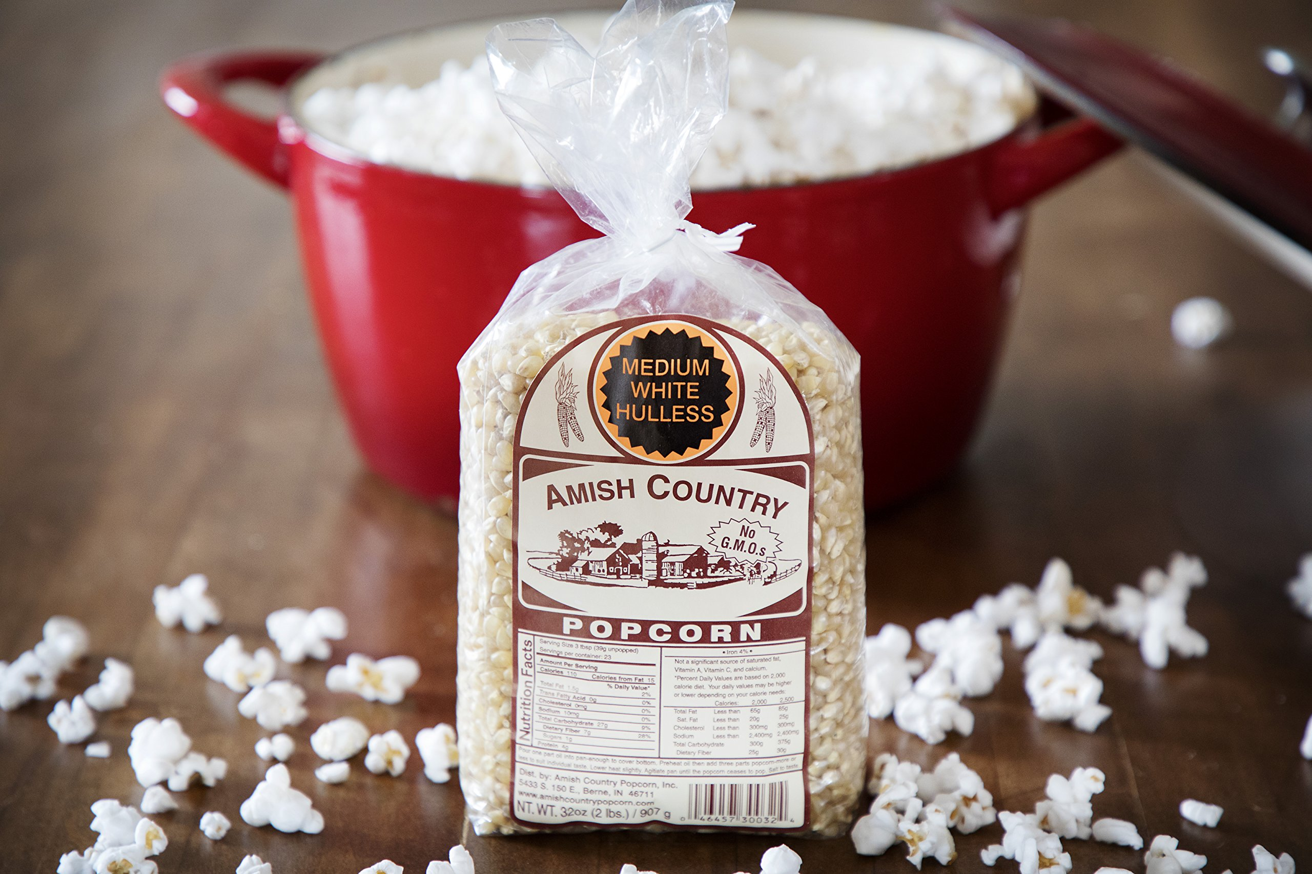Amish Country Popcorn - Medium White Popcorn (2 Pound Bag) Old Fashioned, Non GMO, and Gluten Free - with Recipe Guide by Amish Country Popcorn (Image #3)