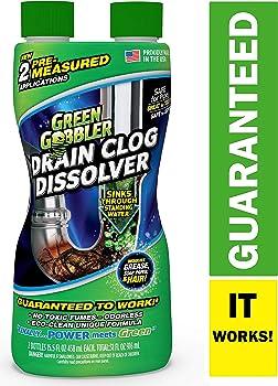 2-Pack Green Gobbler DISSOLVE Liquid Hair & Grease Clog Remover
