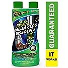 Green Gobbler GGDIS2CH32 Dissolve Liquid Hair & Grease Clog Remover/Drain Opener/Drain Cleaner/Toilet Clog Remover (31 OZ.)