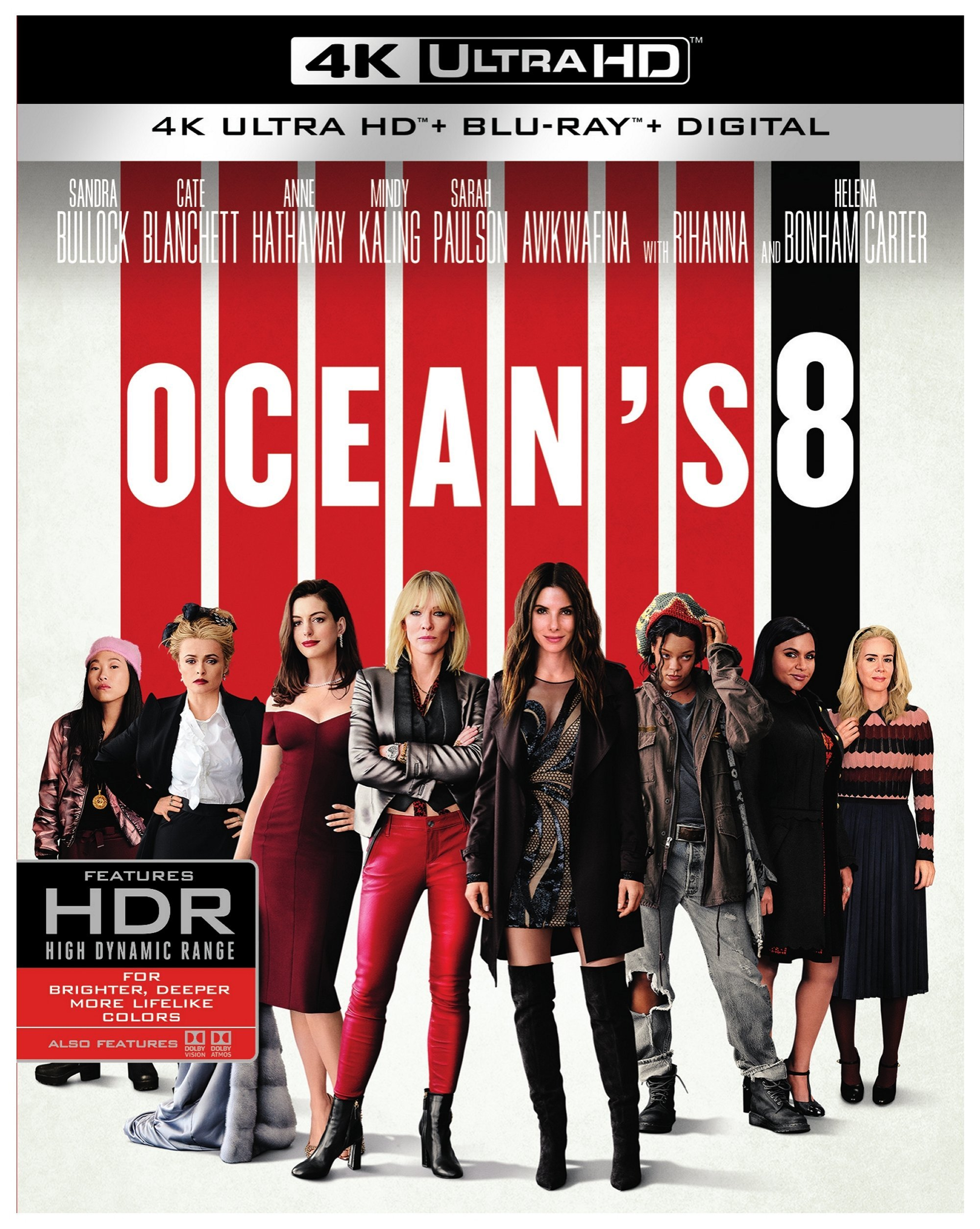 4K Blu-ray : Ocean's Eight (With Blu-ray, Black, 4K Mastering, Dolby, AC-3)