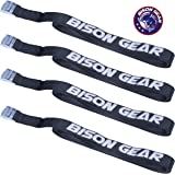 Premium Tie Down Straps - (Car Roof Rack Straps for Surfboard Kayak or Cargo Lashing) - Rustproof Heavy Duty Cam Buckles - 4 Pack - 5m x 25mm