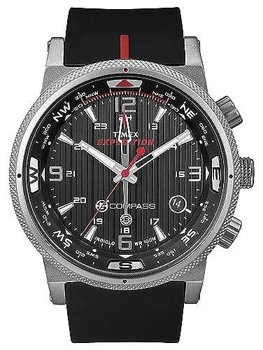 d91e2804651c Timex reloj Expedition E-brújula para hombre T49817 de goma  Amazon.es   Relojes