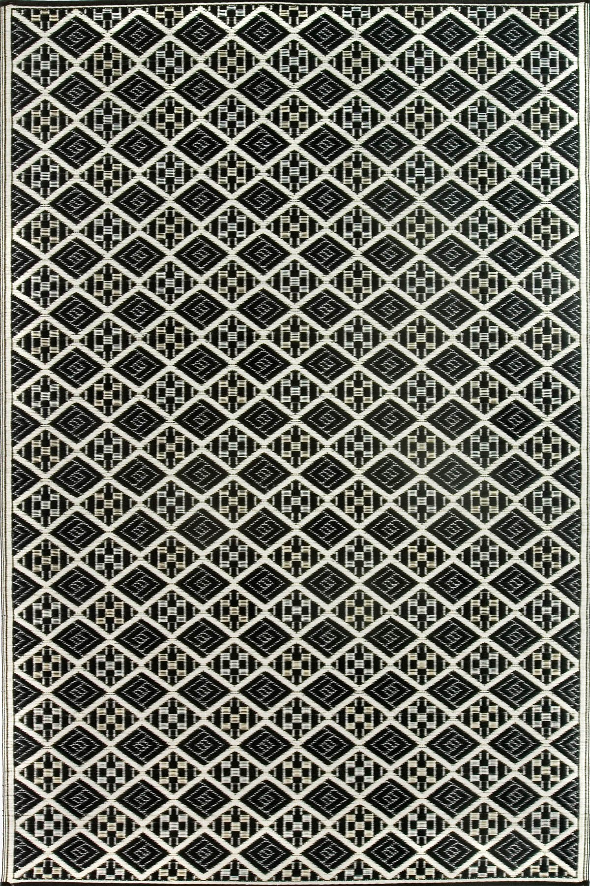 Mad Mats Scotch Indoor/Outdoor Floor Mat, 6 by 9-Feet, Black and White