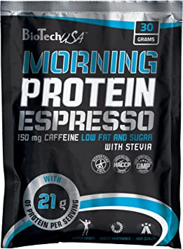 Biotech Morning Protein Espresso Mezcla de Proteína y Café - 30 gr