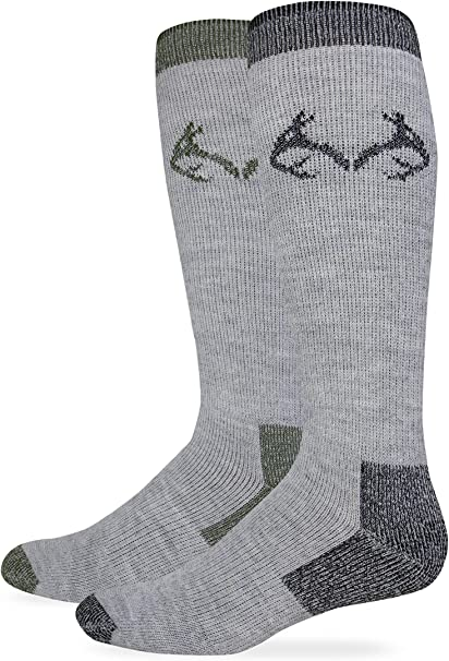RealTree Mens Camo Wool Blend Crew Socks 2 Pair