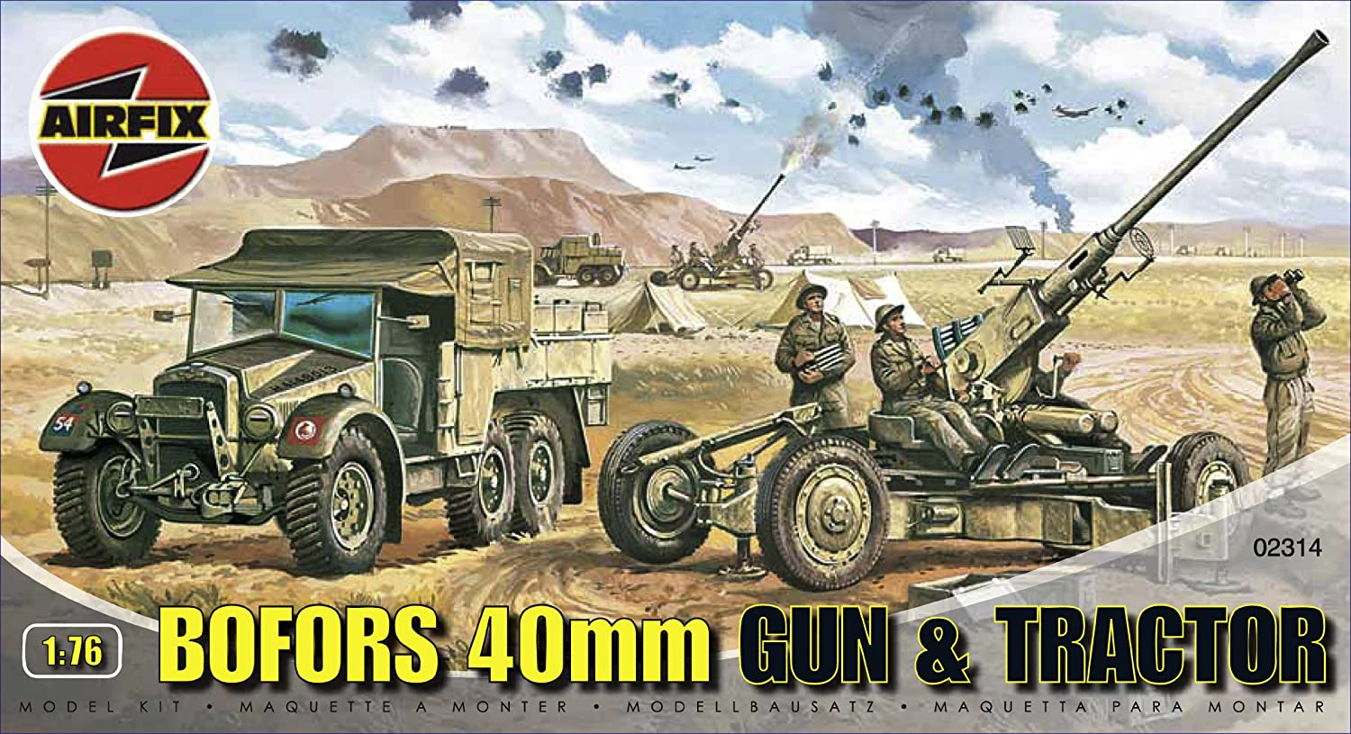 Airfix A02314 Bofors 40mm Gun & Tractor 1:76 Scale Series 2 Plastic Model Kit B0002HZW6I Arts and Crafts Arts_and_Crafts Craft Kits
